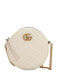 Gucci Mini Circle Gg Marmont Leather Bag White