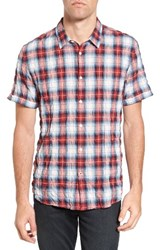 John Varvatos Men's Star Usa Mayfield Slim Fit Plaid Sport Shirt