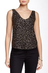 Harlowe And Graham Sequin Tank Black