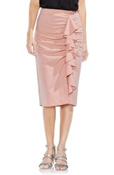 Vince Camuto 'S Ruffle Front Ponte Knit Pencil Skirt Wild Rose