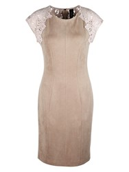 Marc Cain Suedette Dress Rose Taupe