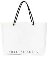 Philipp Plein Statement Tote Bag White