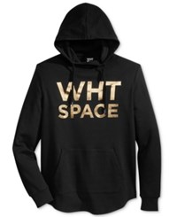 Wht Space Men's Graphic Print Hoodie Black Gold