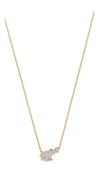 Kacey K Elephant Necklace Gold Clear