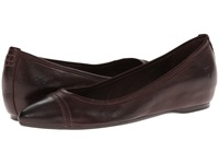 Frye Alicia Ballet Dark Brown Soft Vintage Leather Women's Flat Shoes