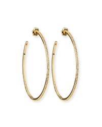 Tai Large Hoop Earrings W Pave No Color