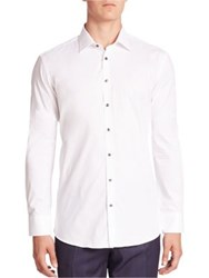 Sand Solid Button Up Shirt White