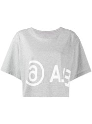 Maison Martin Margiela Mm6 Cropped T Shirt Grey