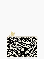 Kate Spade Literary Glasses Pencil Pouch Set Literary Glasses Print