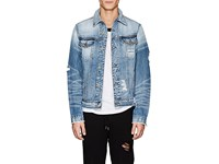 Nsf Distressed Denim Trucker Jacket Blue
