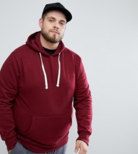 Friend Or Faux Plus Sybal Back Print Hoodie Red
