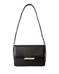 Diane Leather Small Flap Shoulder Bag Black Jason Wu