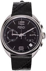Fendi Silver And Black Momento Watch
