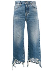 R 13 R13 Frayed Edge Jeans Blue