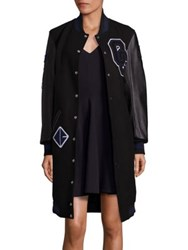 Opening Ceremony Empire State Long Varsity Coat Black