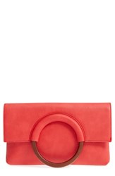 Bp. Faux Leather Circle Clutch Red