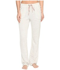 Lucky Brand Bright Touch French Terry Pants Light Heather Grey Women's Pajama Silver