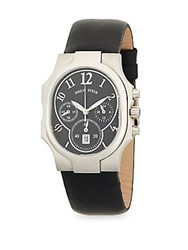 Philip Stein Teslar Stainless Steel Classic Leather Strap Watch No Color