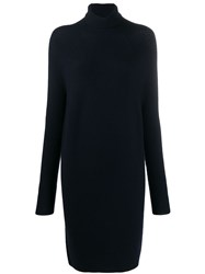 Christian Wijnants Koha Turtle Neck Dress Blue