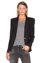 Balmain Single Button Blazer Black