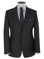 Daniel Hechter Twill Stretch Tailored Suit Jacket Grey