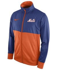 Nike Men's New York Mets Track Jacket Royalblue Orange