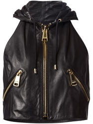 Moschino Hooded Gilet Black