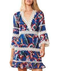 Red Carter Willow Floral Print Coverup Dress Multi