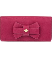 Vivienne Westwood Bow Detail Leather Long Wallet Pink