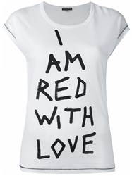 Ann Demeulemeester Printed Text T Shirt White