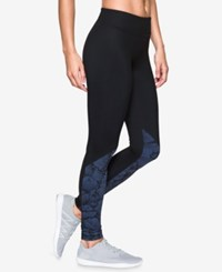Under Armour Studiolux Mirror Printed Leggings Faded Ink Floral
