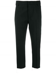 Dondup Cropped Slim Trousers Black