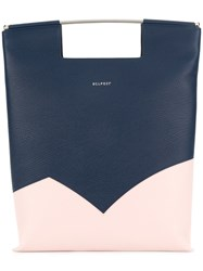 Delpozo Colour Block Tote Bag Blue