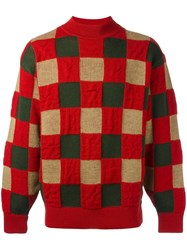 Issey Miyake Vintage Checked Jumper Red