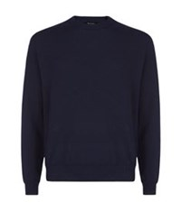 Paul Smith Cashmere Solid Sweater Navy