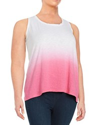 Lord And Taylor Plus Ombre Tank Zinnia