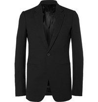 Rick Owens Black Virgin Wool Crepe Blazer Black