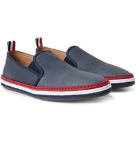 Thom Browne Coated Canvas Espadrilles Blue