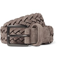 Andersons 3.5 Taupe Woven Suede Belt Brown