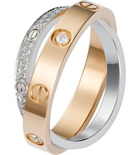 Cartier Love 18Ct Pink Gold White Gold And Diamond Ring