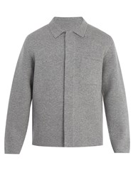 Berluti Wool And Cashmere Blend Field Jacket Grey