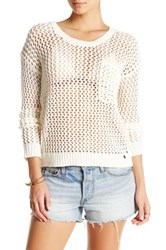 Roxy Turnabout Crew Neck Sweater White