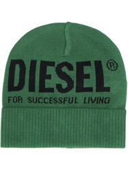 Diesel Bi Coloured Beanie Green