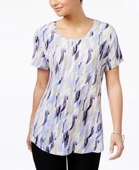 Jm Collection Printed T Shirt Only At Macy's Purple Patridge