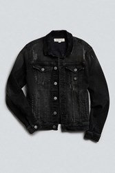 Calvin Klein Reissue Black Denim Washed Trucker Jacket Washed Black