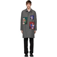 Stella Mccartney Grey The Beatles Check Andrew Coat