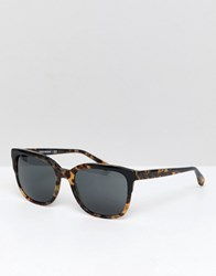 Emporio Armani Square Sunglasses In Tort Brown