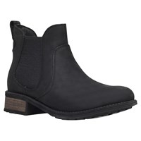 Ugg Bonham Leather Low Block Heel Ankle Boots Black