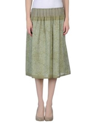 So Nice 3 4 Length Skirts Military Green