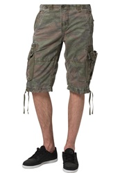 Alpha Industries Terminal C Shorts Woodland Camo Oliv